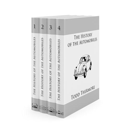 books set 3d model max obj fbx c4d 1