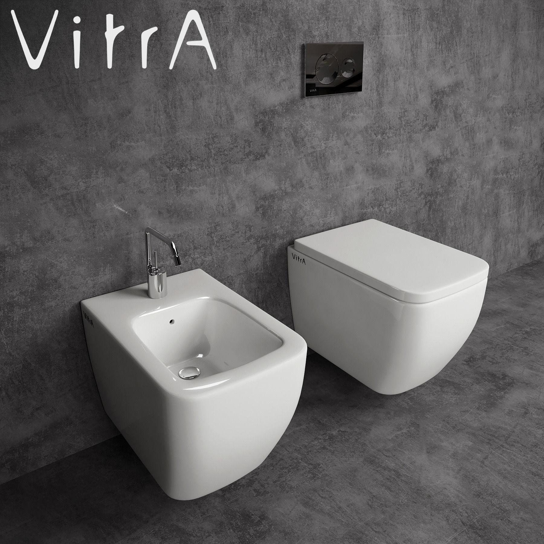 toilet and bidet vitra shift 3d model max. Black Bedroom Furniture Sets. Home Design Ideas