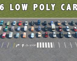 46 low poly cars 3d model low-poly max obj 3ds fbx