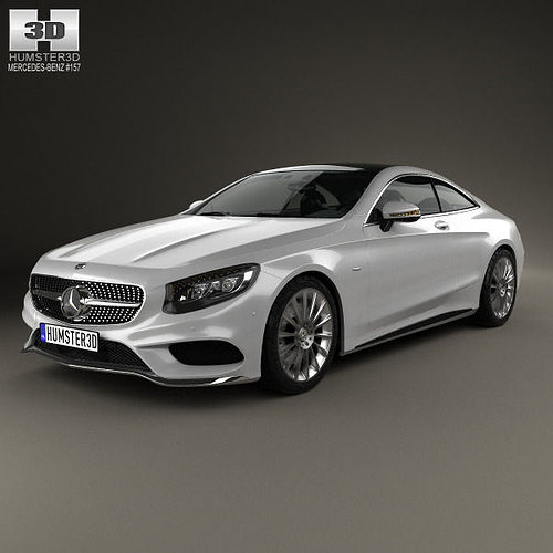 Mercedes Benz S Class Coupe AMG Sports Package 2014 3D Model