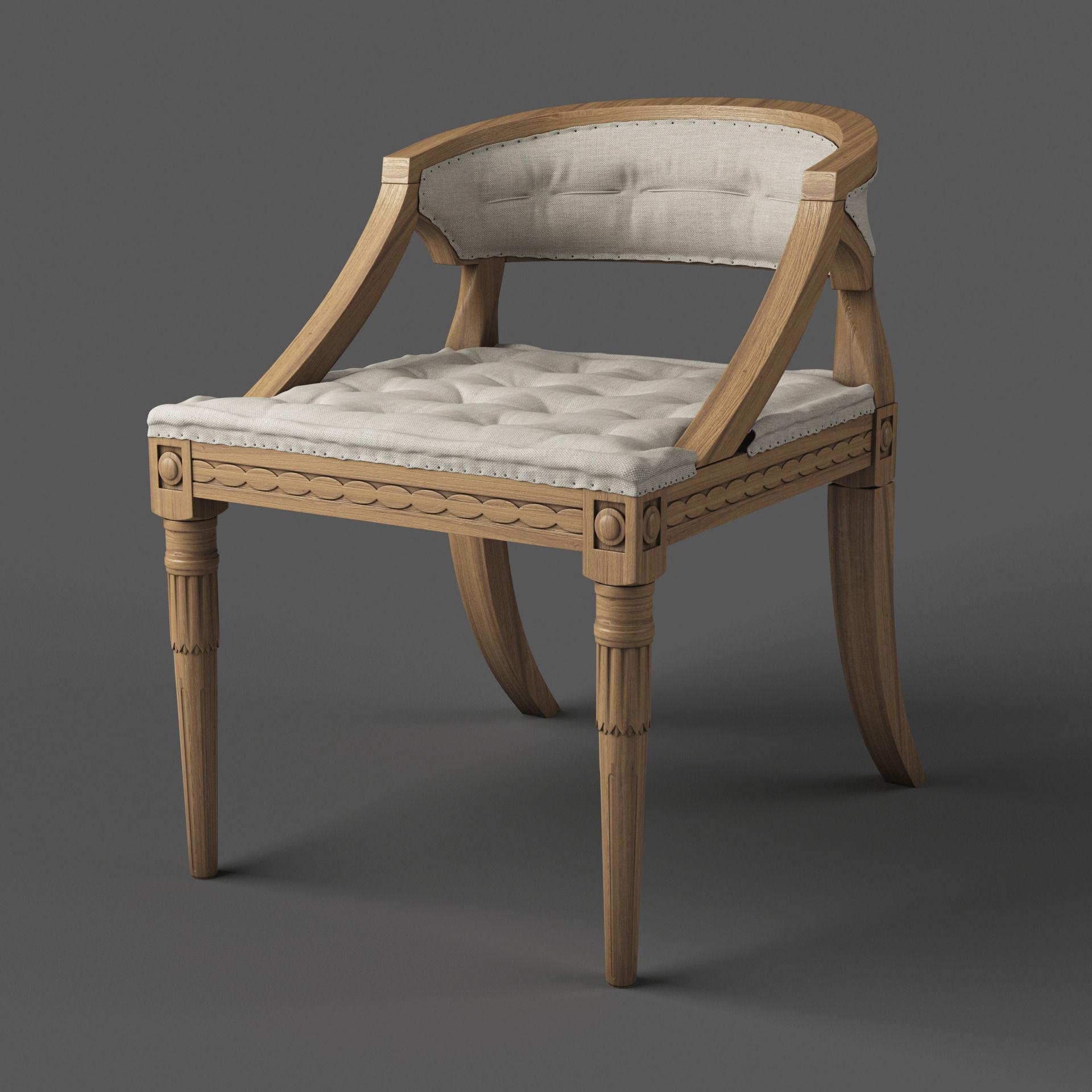 Classic Swedish Chair 3d Model Max Fbx 1 ...