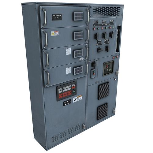 switchgear 3d model low-poly max obj fbx tga 1