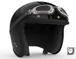 motorbike 3D Black R Helmet H09