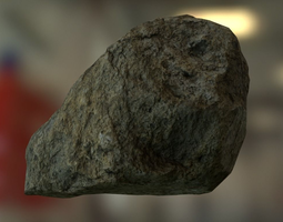 low-poly 3d model rock 6 PBR