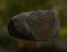 Rock 3D model realtime PBR