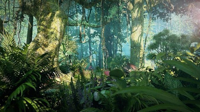 rainforest 001 3d model max tga 1