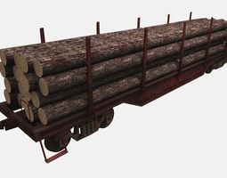 3D model Lumbar Railcar
