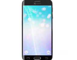 3D model Black smartphone 2