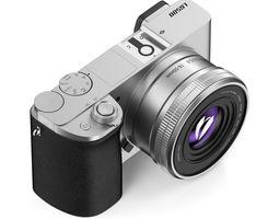 Silver digital camera 3D Model