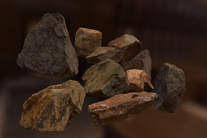 rock pack 2 3d model low-poly fbx 1