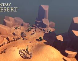 Fantasy Desert 3D asset