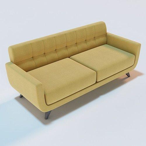 Anson Sofa Model Obj Mtl Fbx C4d 1