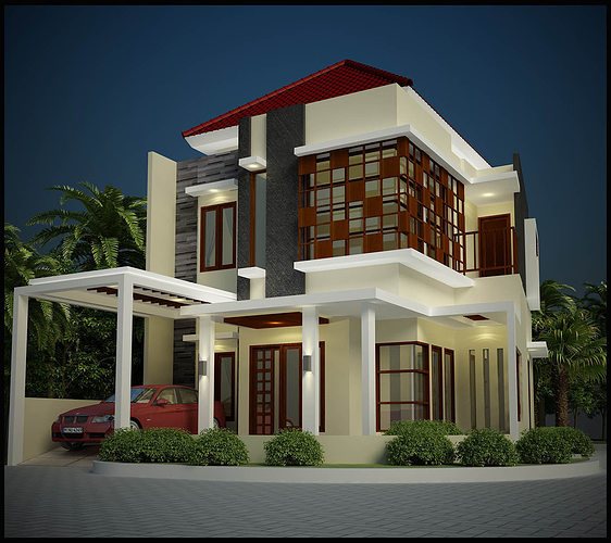 hedona home design free 3D Model DWG | CGTrader.com