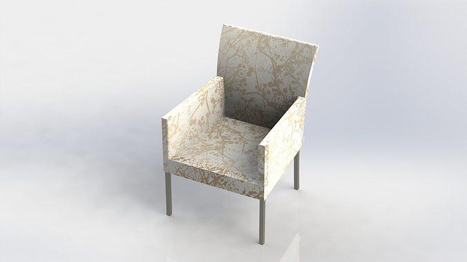 Diner chair stoel stuhl silla chaise 3d model stl for Modele chaise