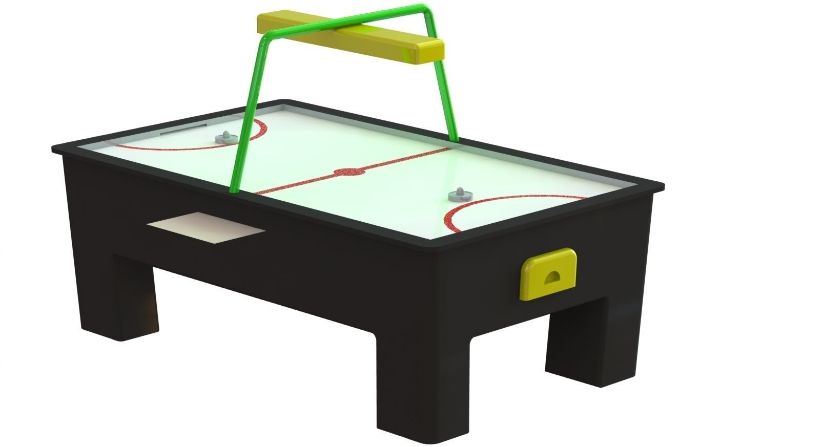 air hockey table 3d model stl dwg sldprt sldasm slddrw 1
