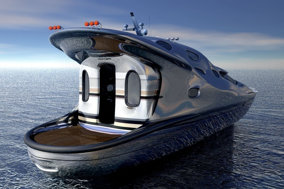 Small Luxury Yacht 3d Model Obj Mtl Cgtrader Com