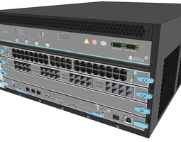 3D model Juniper 9204 Layer 3 switch