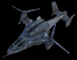 rigged uh-144 hq-3d model
