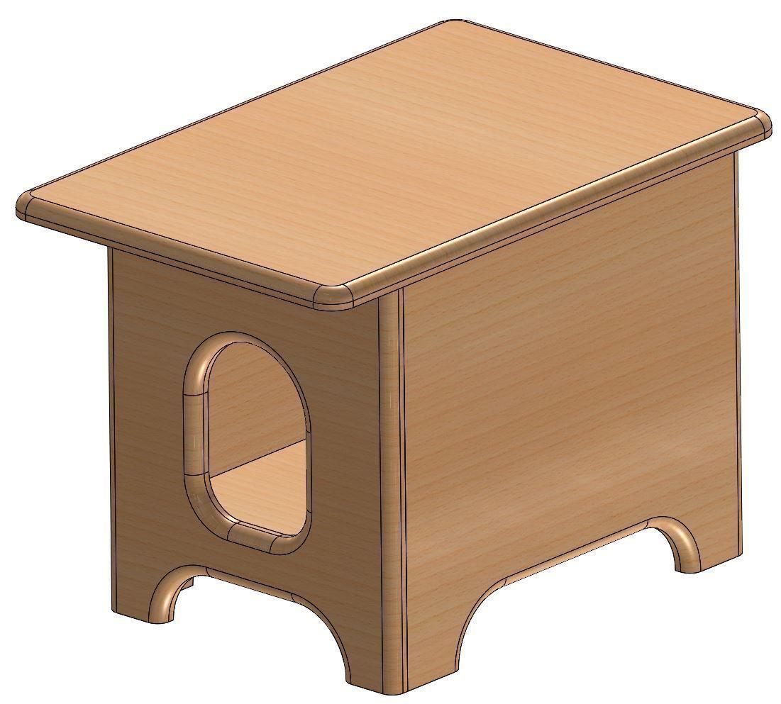 Cat House For Kits Project 3d Model Sldprt Sldasm Slddrw 1