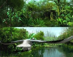 Rainforest through the long lens 3D model
