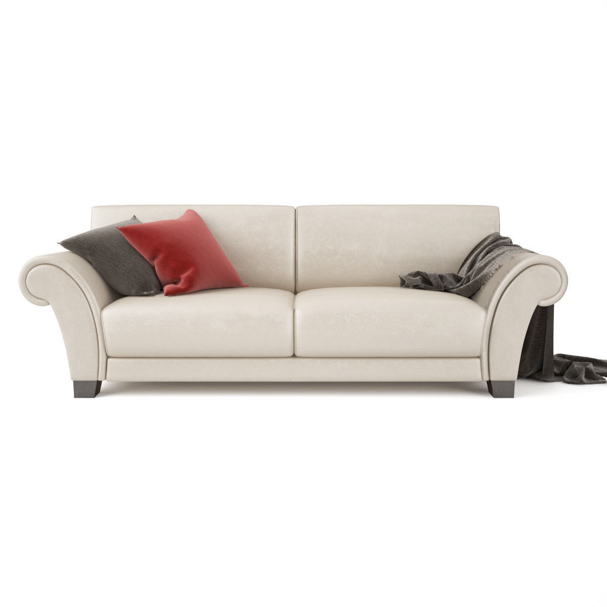 Sofa loveseat 3d model max obj fbx for 3 on a couch