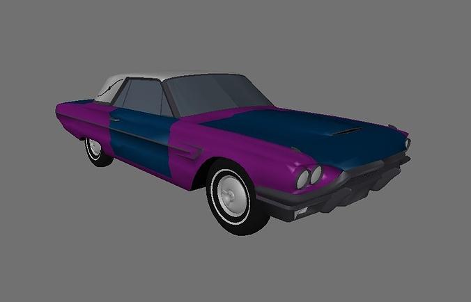 64 thunderbird 3d model lwo lw lws 1