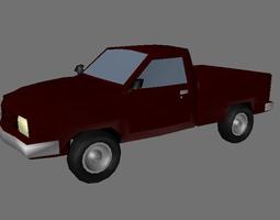 3D Cherry Pickup Truck