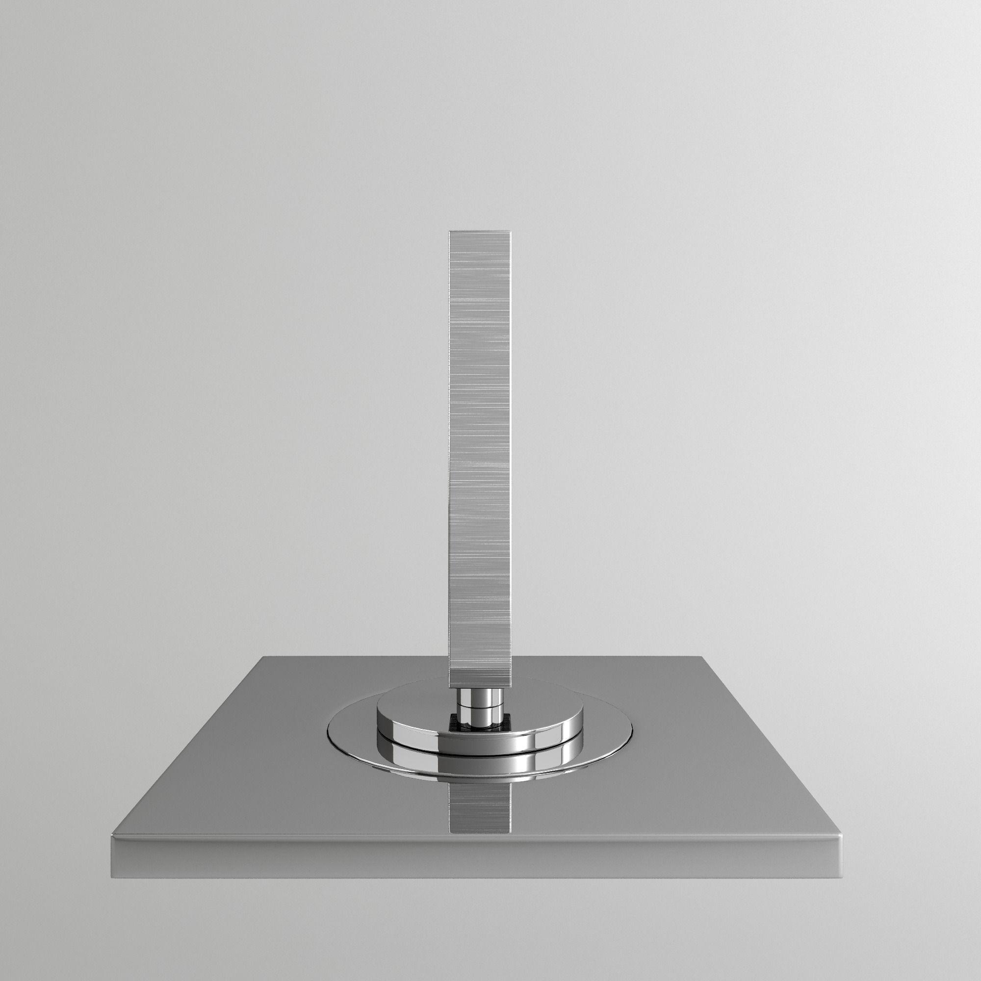 Gessi Rettangolo Ceiling Faucet and Mixer 3D model MAX OBJ 3DS FBX MTL