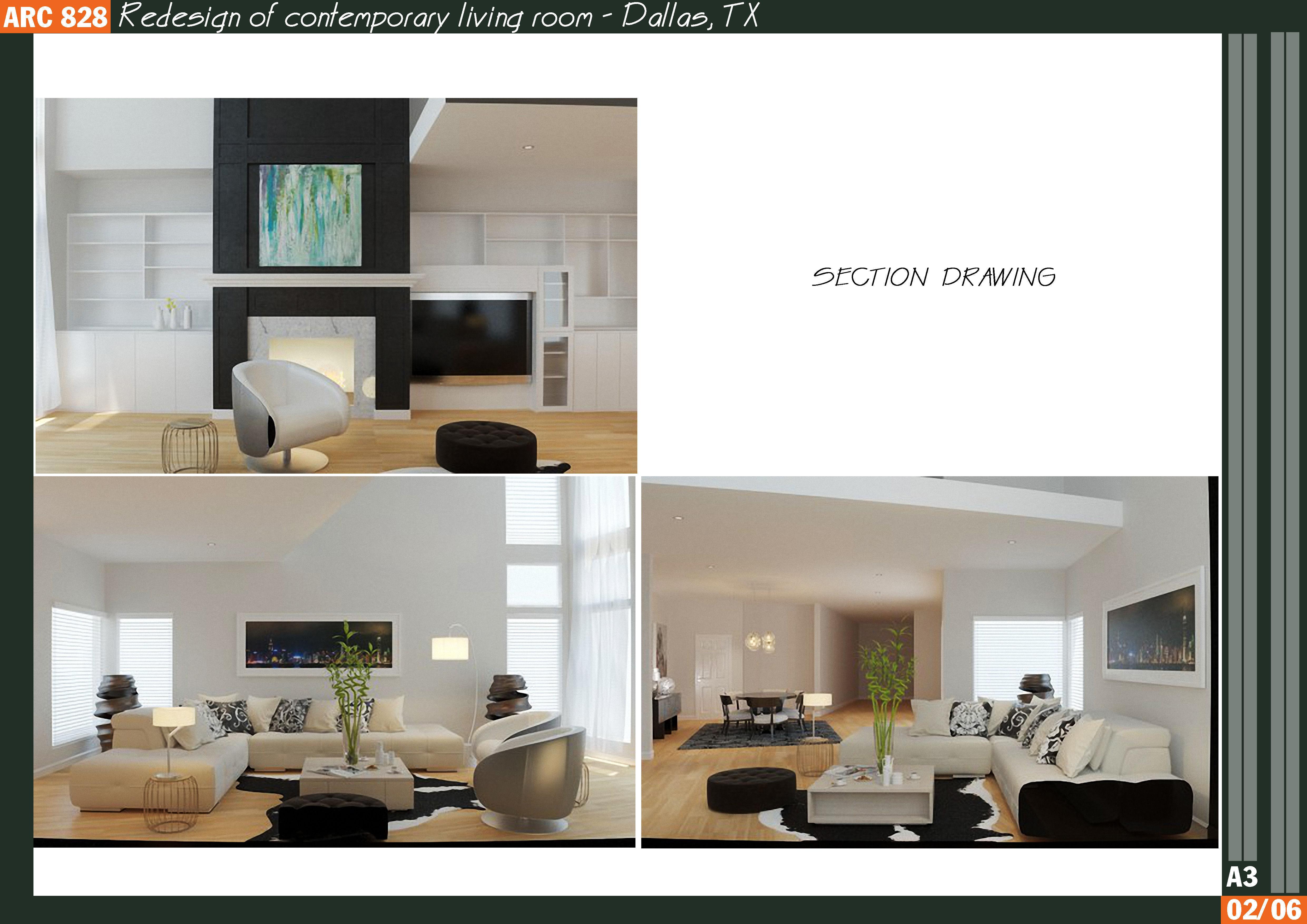 13 - Redesign of contemporary living room - Dallas 3D model MAX