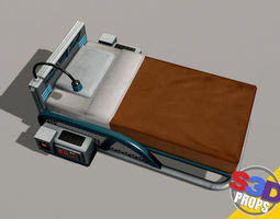 scifi bed 3D