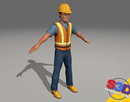 3d construction worker 2