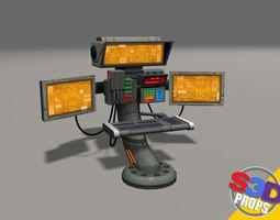 3d model scifi control panel2