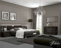Bedroom furniture rest 3D model