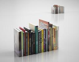 3D model Modern books