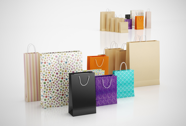 Paper shopping bags | 3D model