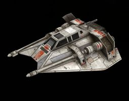 star war t47 game res model game-ready 3d asset