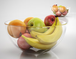 Bowl of fruits 3D