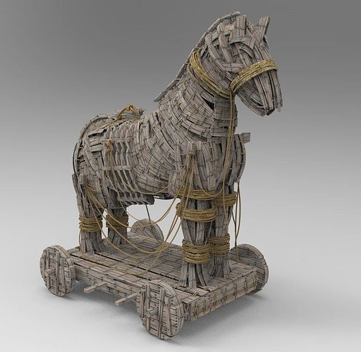 Fabulous 3D Trojan Horse High res Model | CGTrader VP59