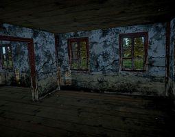 3D asset Abandoned House