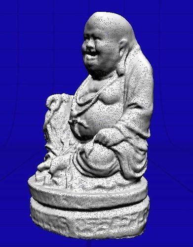 laughing buddha  3d model obj mtl ige igs iges 1