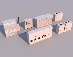 equipment cabinet 3d model max obj 3ds fbx