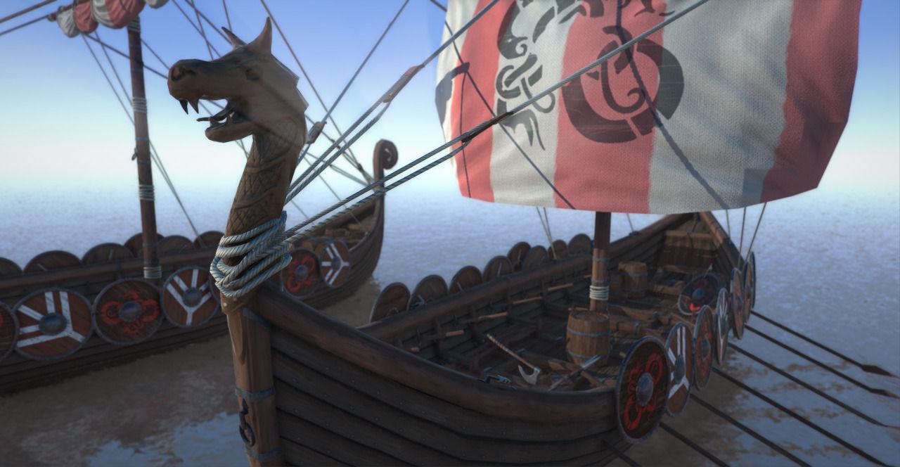 game ready medieval viking ship pack 3d asset cgtrader