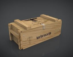 3d model realtime ammo-crate wehrmacht ww2