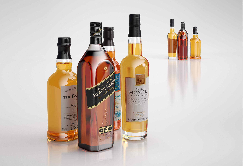Alcohol bottles | 3D model