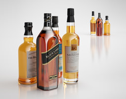 3D model Alcohol bottles