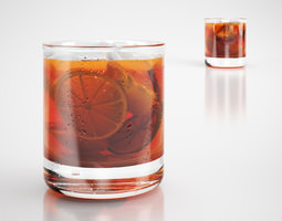 3d cocktail drink whiskey