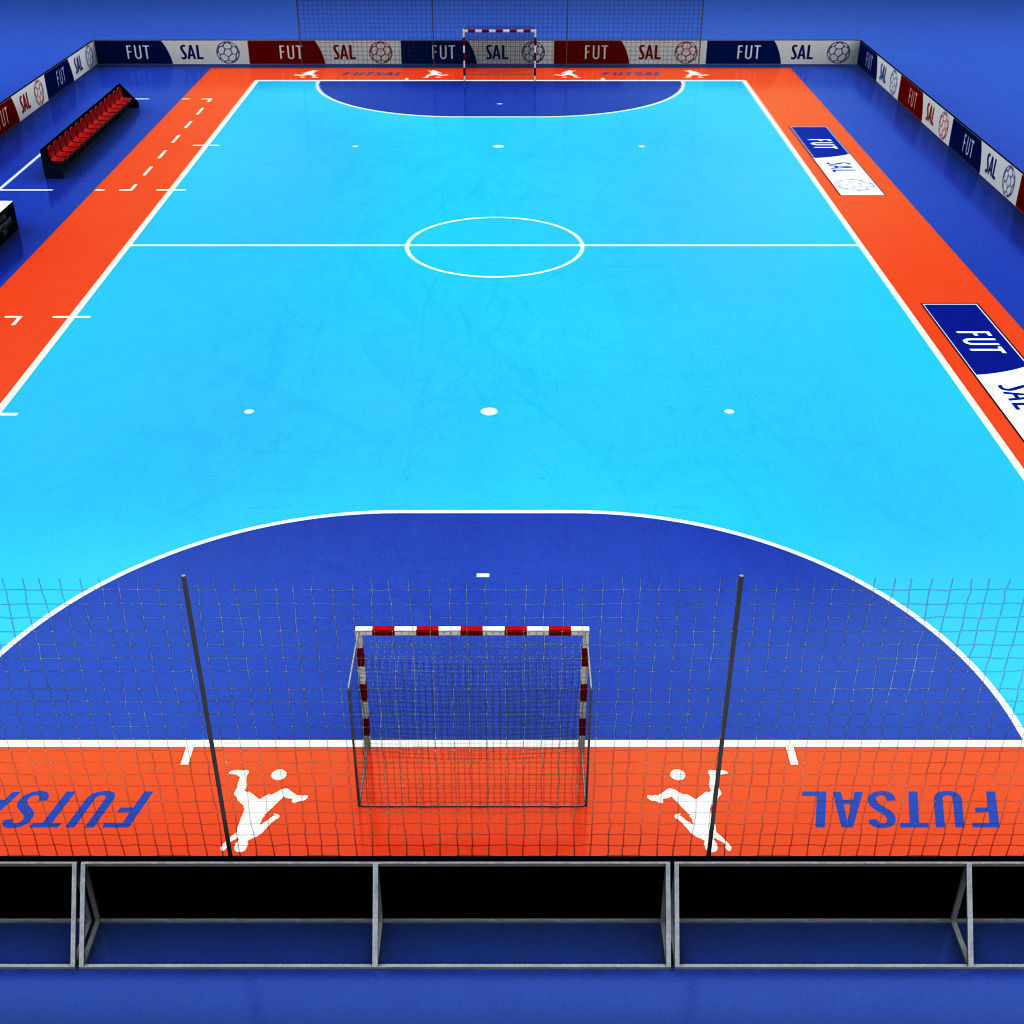 Futsal court arena 3D Model MAX OBJ 3DS FBX MTL | CGTrader.com