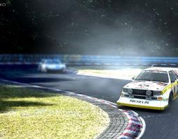 racing 3D model Audi Quattro S1