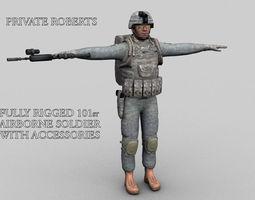 101st Airborne Soldier Pte Roberts 3D