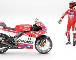ducati with rider 3D Model